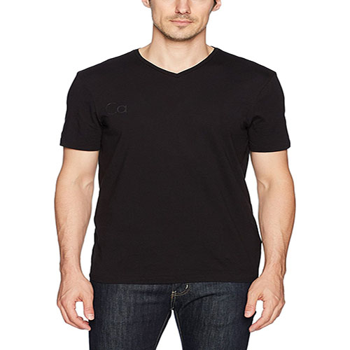 Men icon letter print V-neck T-shirt