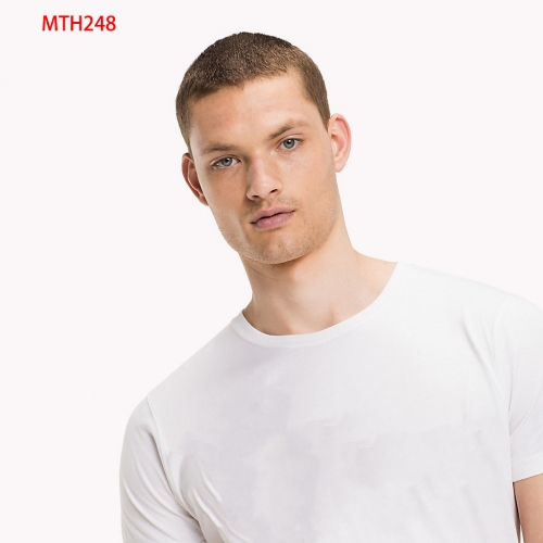 Men Cotton Crewneck Tee-MTH248
