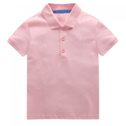 Short sleeves with stand collar for children