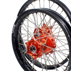 VMX KTM 690 ENDURO R SMC CUSH DRIVE WHEELS 21/18 ORANGE HUB 08-17