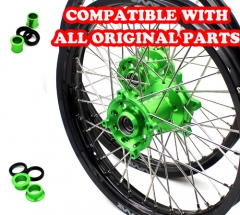 VMX 21/19 WHEELS RIMS FOR KAWASAKI KX250F KX450F 2006-2018 GREEN