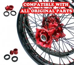 VMX MX WHEELS SET 21/19 FITS HONDA CRF250R 2019 CRF450R 2020 RED/BLACK