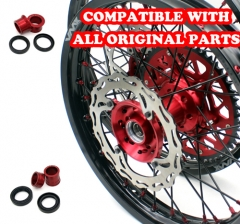 VMX MX COMPLETE WHEELS SET 21/19 FOR HONDA CRF250R 2014 CRF450R 2019 RED/BLACK