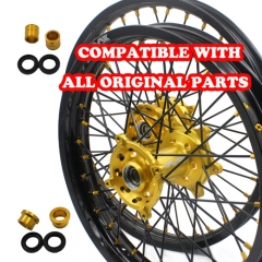 VMX WHEELS SET 21/19 FIT SUZUKI RMZ250  RMZ450 GOLD/BLACK