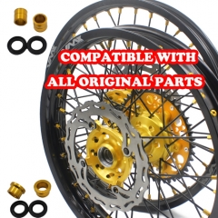 VMX 21/19 COMPLETE WHEELS SET FOR SUZUKI RMZ250  RMZ450 GOLD/BLACK
