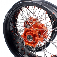 VMX SUPERMOTO MOTARD CUSH DRIVE WHEELS FOR KTM 620 640 660 LC4 SMC ORANGE NIPPLE
