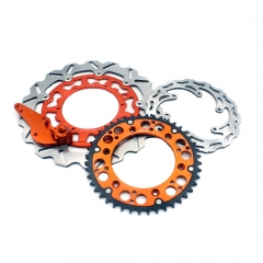 VMX FRONT AND REAR DISC ROTORS ADAPTER BRACKET SPROCKET FOR KTM SX-F EXC 2008 ORANGE