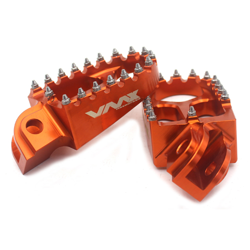 FOOT PEG RESTS FOOTPEGS FOOTREST Compatible with KTM XC-W SXF EXC-R EXC-F 125 530 ORANGE