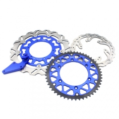 YAMAHA 320MM OVERSIZE FRONT BRAKE DISC ROTORS ADAPTER BLUE YZ250F 450F