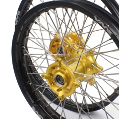 VMX 21/19 WHEELS FOR SUZUKI RMZ250 RMZ450 GOLD