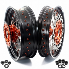 VMX COMPLETE SUPERMOTO CUSH DRIVE WHEELS FOR KTM 690 ENDURO R SMC