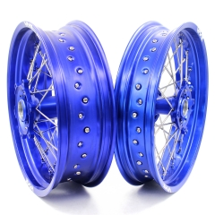 VMX SUPERMOTO WHEELS SET FOR SHERCO  SER & SEF (All) BLUE RIMS