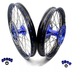 VMX COMPLETE CASTING WHEELS SET FOR YAMAHA YZ 250F 450F YZ 125 250 21/19 BLUE