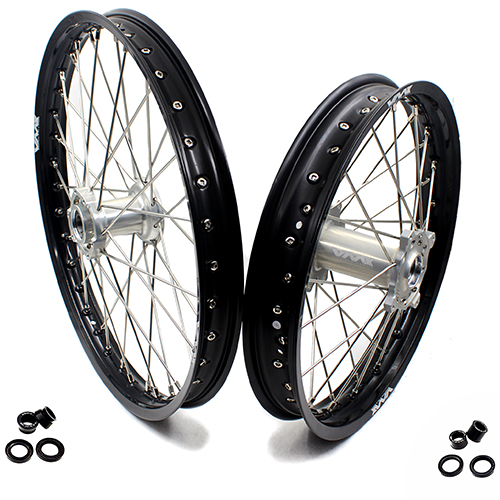 VMX 21/18 WHEELS RIMS FOR TM TN MX BIKES 125-530 2015-2018 SILVER