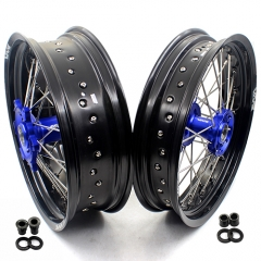 VMX SUPERMOTO WHEELS SET FOR SHERCO  SER & SEF (All) BLUE HUB