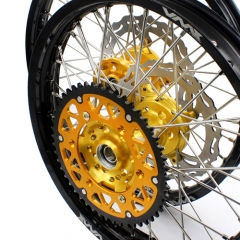 VMX 21/18 COMPLETE WHEELS SET FOR SUZUKI RMZ250 RMZ450 2005-2019 GOLD