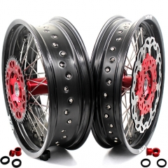 VMX COMPLETE SUPERMOTO WHEELS SET FOR HONDA CRF250R CRF450R 2012