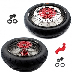 VMX SUPERMOTO WHEELS SET WITH TIRE FOR HONDA CRF250R CRF450R 2012