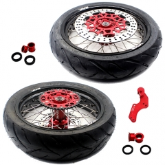 VMX SUPERMOTO WHEELS RIMS SET WITH TIRE FOR HONDA CRF250R CRF450R