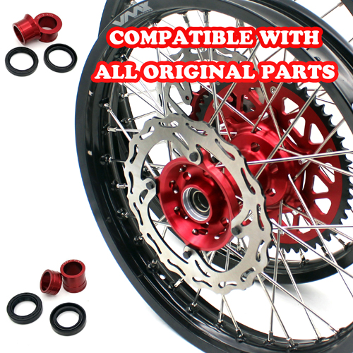 VMX 21/18 COMPLETE WHEELS SET FOR HONDA CRF250R 2004-2013 CRF450R 2002-2012
