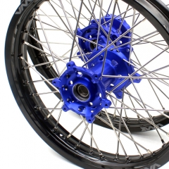 VMX 21/18 WHEELS RIMS FOR YAMAHA WR250F WR450F BLUE