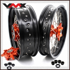 VMX SUPERMOTO CUSH DRIVE WHEELS FOR KTM 690 ENDURO R SMC ORANGE