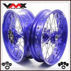 VMX SUPERMOTO CUSH DRIVE WHEELS FOR KTM 690 ENDURO R SMC BLUE RIMS