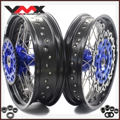 VMX COMPLETE SUPERMOTO CUSH DRIVE WHEELS FOR KTM 690 SMC BLUE HUBS