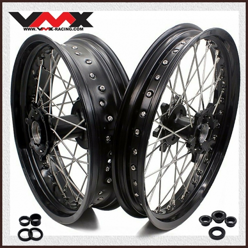 VMX 3.5/5.0 Supermoto Cush Drive Wheel Set Fit KTM 950/990 Black