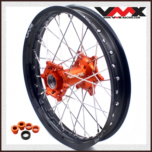 VMX Rear Wheel 2.15*19 Compatible with KTM EXC SX SX-F 125 525 Orange Hub