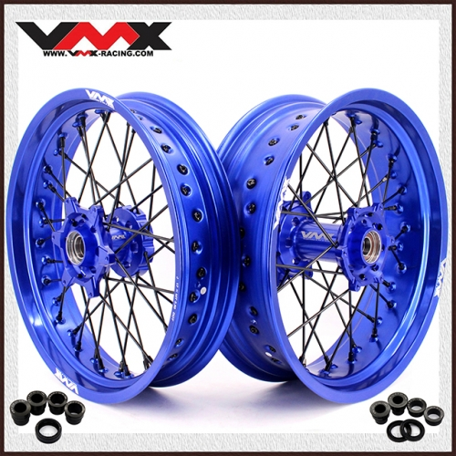 VMX SUPERMOTO WHEELS FOR HUSABERG FE FC 250 450 BLACK NIPPLE