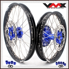 VMX 21/18 COMPLETE WHEELS RIMS FOR YAMAHA WR250F WR450F 2018 BLUE