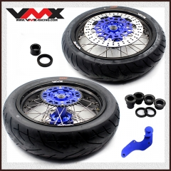 VMX COMPLETE SUPERMOTO WHEELS WITH TIRE FOR YAMAHA YZ 250F 450F YZ 125 250