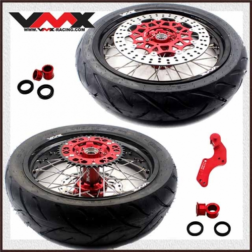 VMX 3.5/4.25 Supermoto Wheel Set With Tire Fit HONDA CRF250R CRF450R 2020