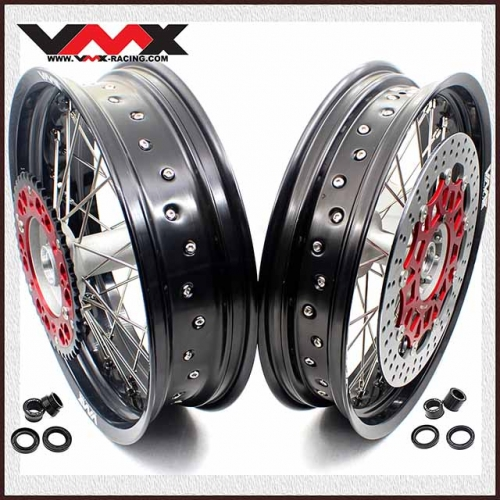 VMX 3.5/4.25 Supermoto Casting Wheels Set Fit HONDA CRF250R CRF450R 2020