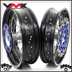 VMX 3.5/5.0 Complete Supermoto Casting Wheel Fit YAMAHA YZ250F YZ450F YZ125 YZ250 Disc