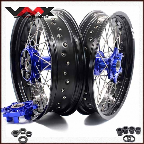 VMX 3.5/5.0 Supermoto Cush Drive Wheels Fit KTM 690 ENDURO R SMC Blue