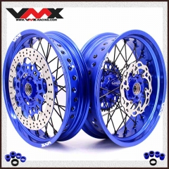 VMX COMPLETE SUPERMOTO WHEELS SET FOR KTM SX-F EXC 250 200 BLUE RIMS
