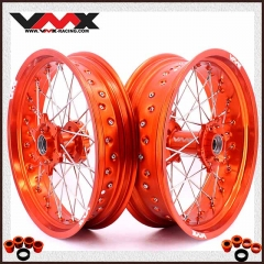 VMX SUPERMOTO WHEELS ORANGE RIMS FOR KTM SXF EXC-R 250 530