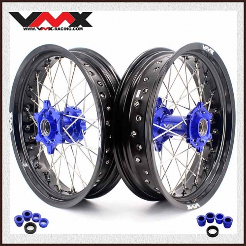VMX 3.5/5.0 Supermoto Wheel Set Fit KTM SX-F EXC-R XC-W 250 350 450 530 03-20 Blue Hub