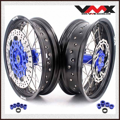 VMX 3.5/5.0 Complete Supermoto Wheel Fit YAMAHA WR 250F 450F 2018 Blue Hub and Disc