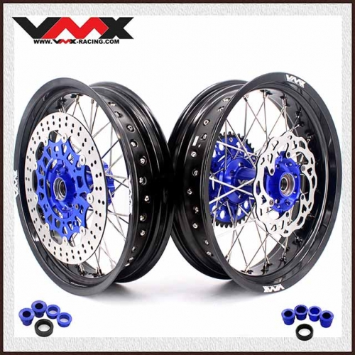 VMX COMPLETE SUPERMOTO WHEELS FOR KTM SXF EXC XC 250 450 BLUE