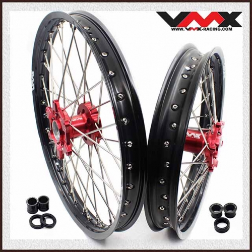 VMX 21/18 Enduro Wheels Fit BETA RR 2013-2018 Red Hub