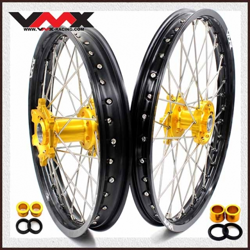 VMX 21/19 MX Wheels Rim Fit SUZUKI RMZ250 RMZ450 Gold Hub
