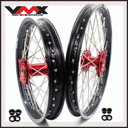VMX 21/18 Wheels Set Fit HUSQVARNA TE/TC/TXC/SMR 2000-2013 Red Hub