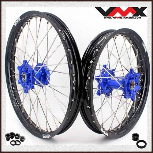 VMX 21/18 Enduro Wheel Fit YAMAHA WR250F WR450F 2003-2020 Blue Hub