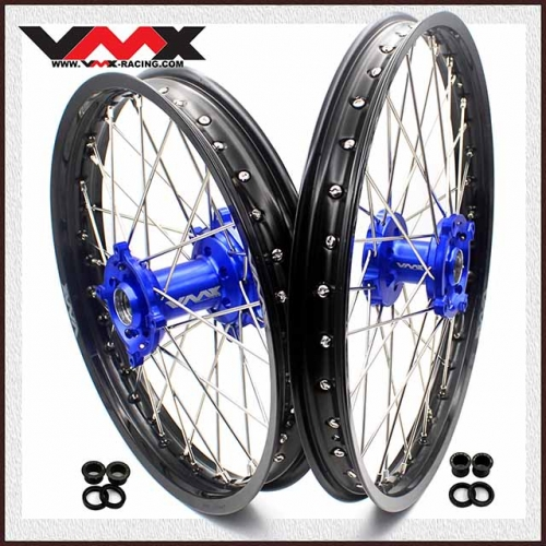 VMX 21/19 MX Wheels Set Fit KAWASAKI KX250F KX450F 2006-2020 Blue Hub