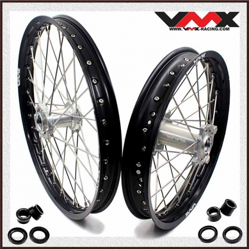 VMX 21/18 Wheels Rims Fit TM TN MX Bike 125-530 2015-2020 Silver