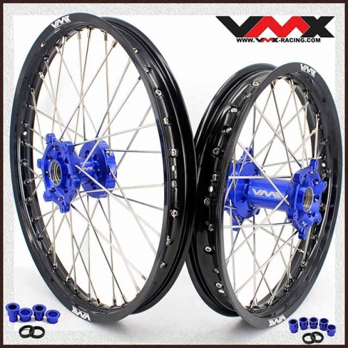 VMX 21/18 Enduro Wheel Rim Fit YAMAHA YZ250F YZ450F 2020 Blue Hub Black
