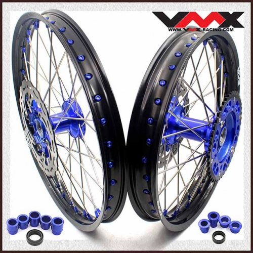 VMX 21/19  Casting Wheel Set Fit YAMAHA YZ 250F 450F YZ 125 250 Blue